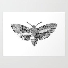Death Head Moth Art Print