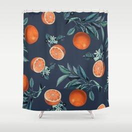 Lemon and Leaf Pattern VI Shower Curtain