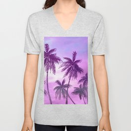 Palm Trees 3 Unisex V-Neck