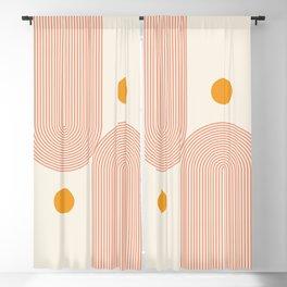 Abstraction_SUN_DOUBLE_LINE_POP_ART_Minimalism_001C Blackout Curtain