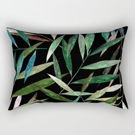 Color Bamboo Leaves at Night Rectangular Pillow