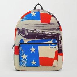 Vintage USA Racing Poster Backpack