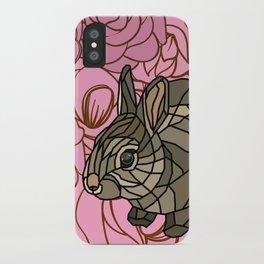 Bella - Mosaic Bunny iPhone Case