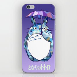 Kawaii Purple Ghibli iPhone Skin