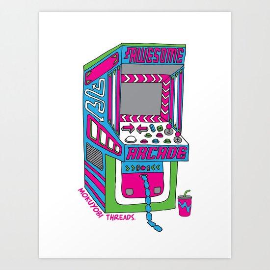 Awesome Arcade Art Print