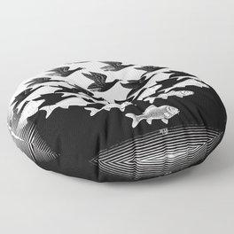 Maurits Cornelis Escher - Sky and Water 1 Floor Pillow