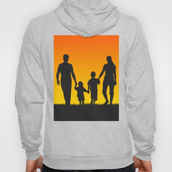 Family silhouettes shirt Hoody