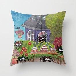 Garden Idyll Throw Pillow