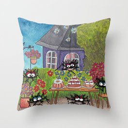 Garden Idyll Throw Pillow