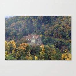 Castle Church Cisnadioara Canvas Print