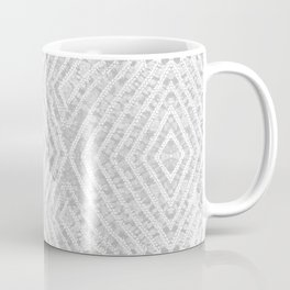 Grey African Dye Resist Fabric Coffee Mug