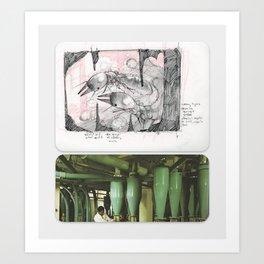 New Naturalism V: Worker termites in mound/ Shuwaikh flour mill Art Print