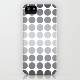 Monochrome Grey Circles iPhone Case
