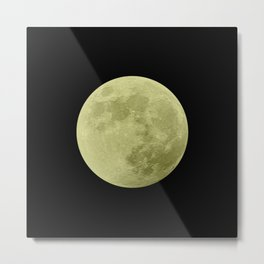 CANARY MOON // BLACK SKY Metal Print