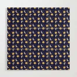 Greek Inspired Suns and Moons with Stars Wood Wall Art