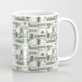 100 Dollar Motif Pattern Design Coffee Mug