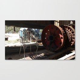 Wheel and Chair Canvas Print