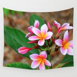 Plumeria Floral Art - Tropical Queen - Sharon Cummings Wall Tapestry