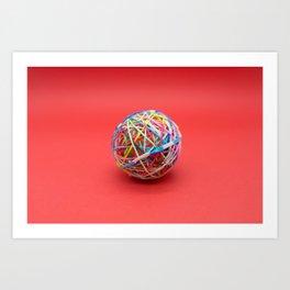 ball made with elastics Art Print