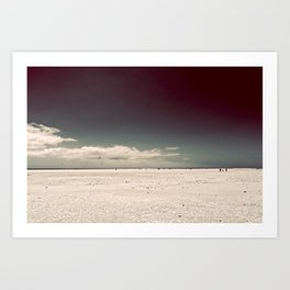 Walking On Art Print