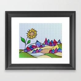 my little village and its sun -1- Framed Art Print