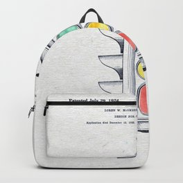 Traffic lights watercolor Backpack