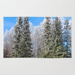Frozen forest Rug