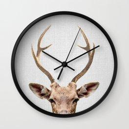 Deer - Colorful Wall Clock