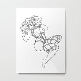 Bondage Girl Metal Print