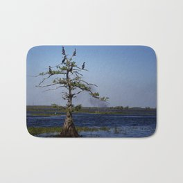 Cormorant Tree Bath Mat
