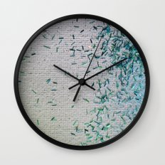 Tickle Me Teal Wall Clock