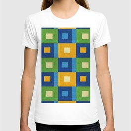 Summer laziness. Squares inside each other. T-shirt
