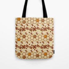 Honeycomb and Bees Tote Bag