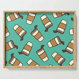 Take it Away Coffee Pattern Serving Tray