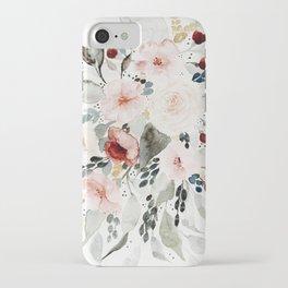 Loose Watercolor Bouquet iPhone Case