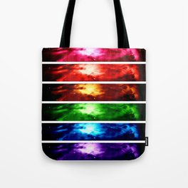 Rainbow Nebula Tote Bag