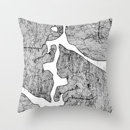 Cat Snuggles on Caturday Throw Pillow
