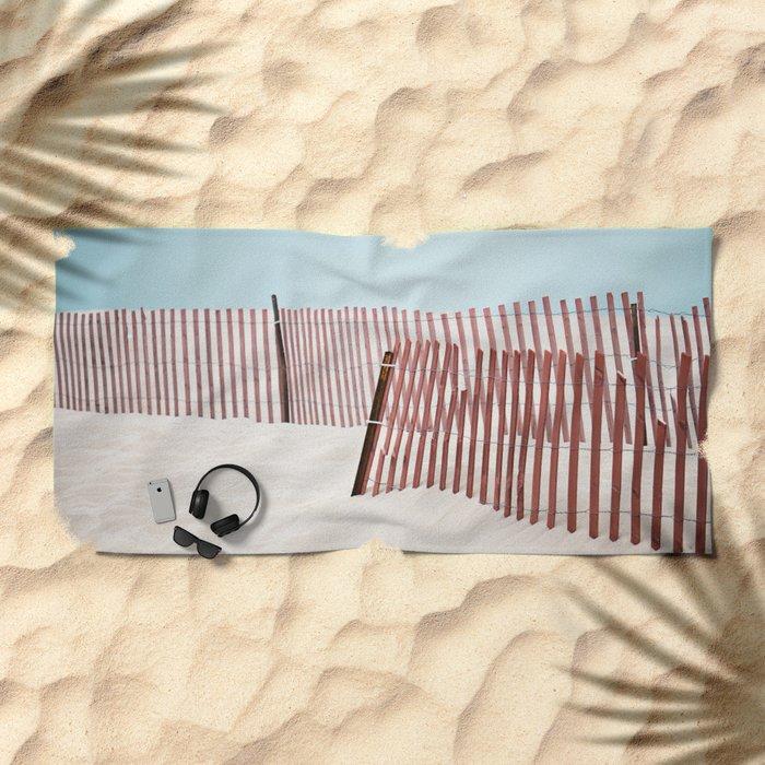 Beach Fence Beach Towel