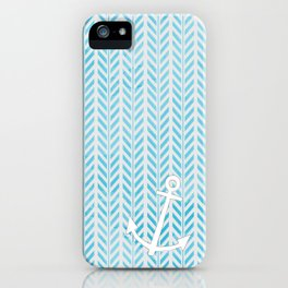 Anchor in Blue iPhone Case