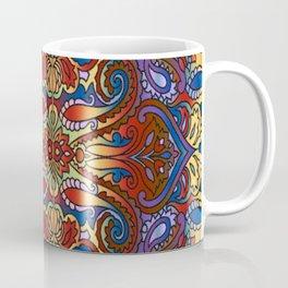 Oriental Watercolor Pattern Blue Red 1 Coffee Mug