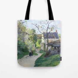 """Camille Pissarro """"Le grand noyer à l'Hermitage"""" Tote Bag"""