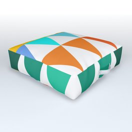 Triangles of Color Outdoor Floor Cushion