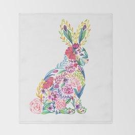 Flower Bunny Throw Blanket