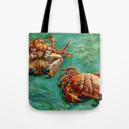 Vincent Van Gogh - Two Crabs Tote Bag