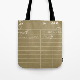 Library Card 797 Negative Brown Tote Bag