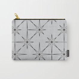 starburst in black and white on grey Carry-All Pouch