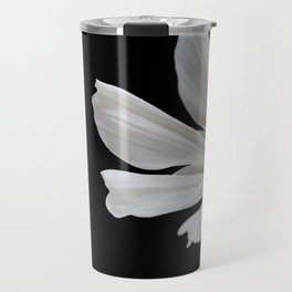 White Cosmos Flower Travel Mug