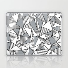 Abstract Lines With Grey Blocks Laptop & iPad Skin