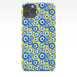 Greek Eye Blue Yellow Pattern iPhone Case