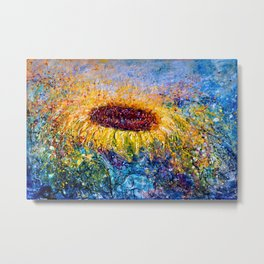 Sunflower Painting - In The Swirls Of Sunshine  Metal Print
